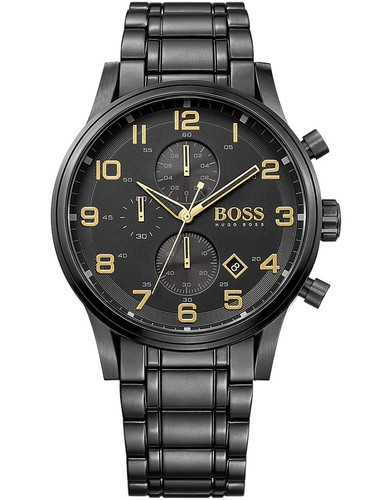 Hugo Boss 1513275 Aeroliner Chrono Black-Gold Edition