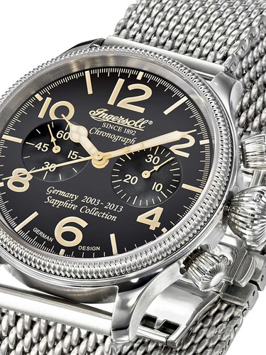Ingersoll IN4610BKMB mech. Chronograph