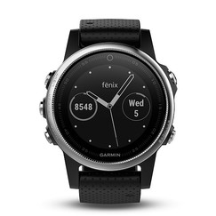 Garmin fenix5S Silver Optic, Black band